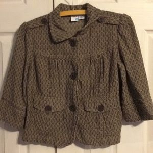 Brown blazer from roxy